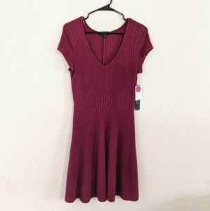 Maroon V-neck Dress NWT